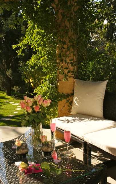 Bien-être de luxe et naturel à la romaine au SPA prive à Uzès en Provence, luxuory wellness treatments in natural garden with pool